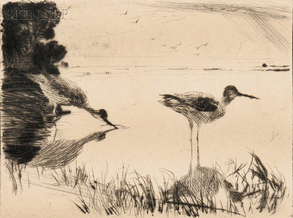 20: Frank Weston Benson (American, 1862-1951) Pair of Y