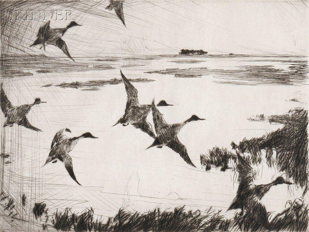 21: Frank Weston Benson (American, 1862-1951) Over Sunk