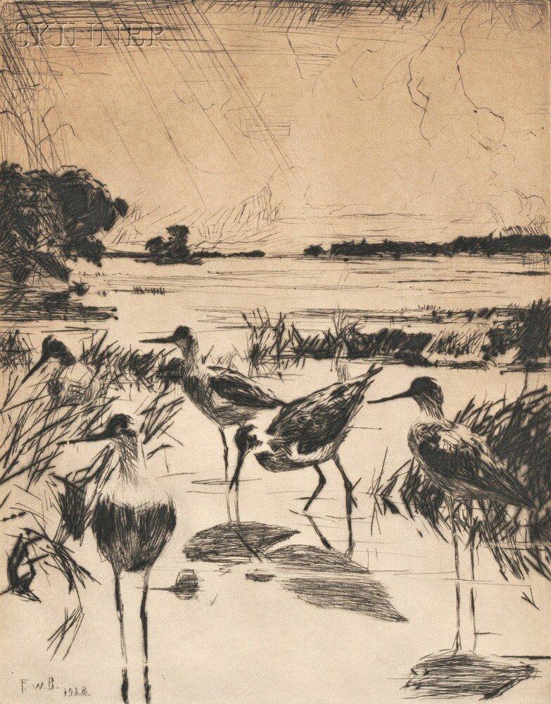 23: Frank Weston Benson (American, 1862-1951) Yellowleg
