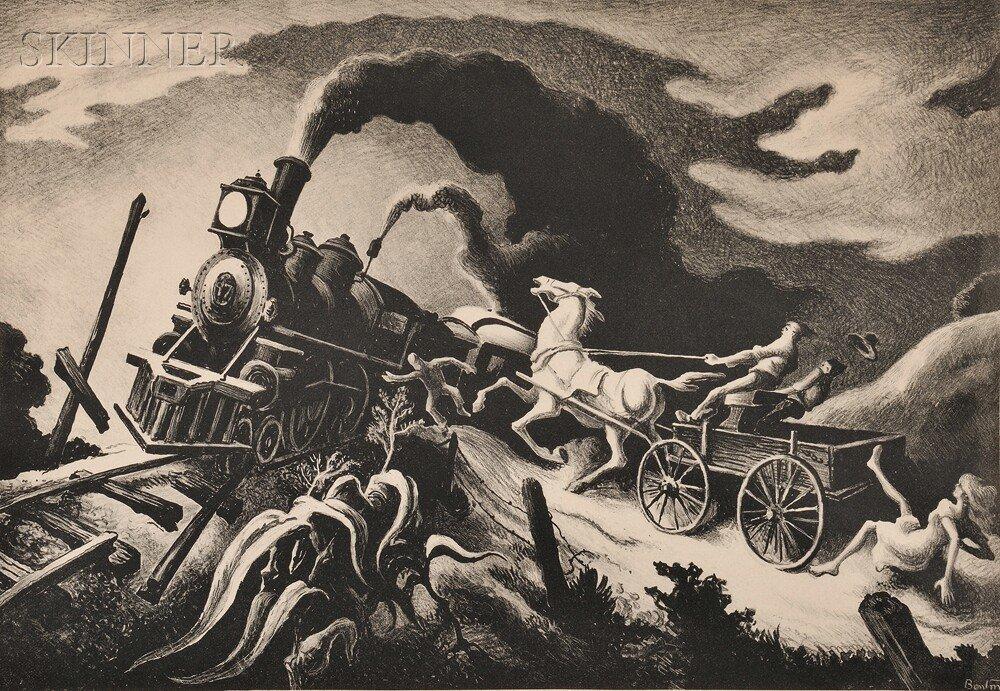 26: Thomas Hart Benton (American, 1889-1975) Wreck of t