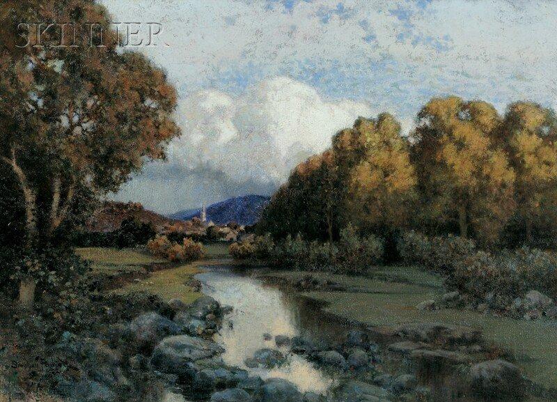 393: Stephen Parrish (American, 1846-1938), New England