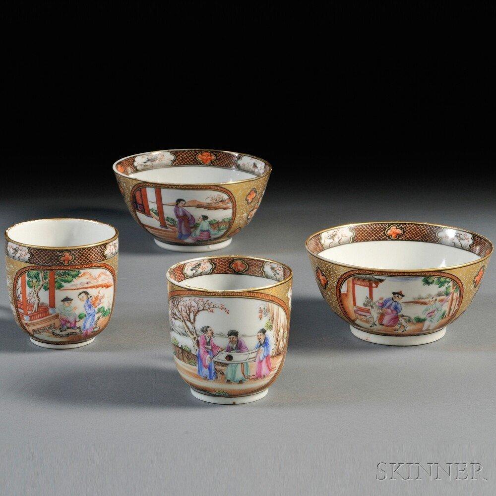 4: Four Porcelain Export Ware Items, China, 19th centur