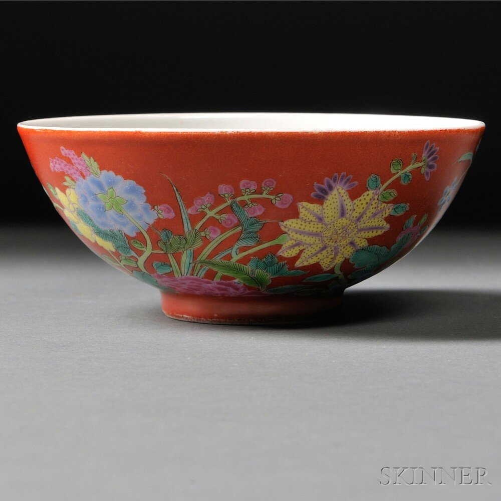 9: Porcelain Bowl, China, 20th century, the underside d