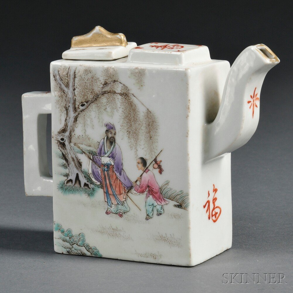 11: Famille Rose Teapot, China, 20th century, decorated