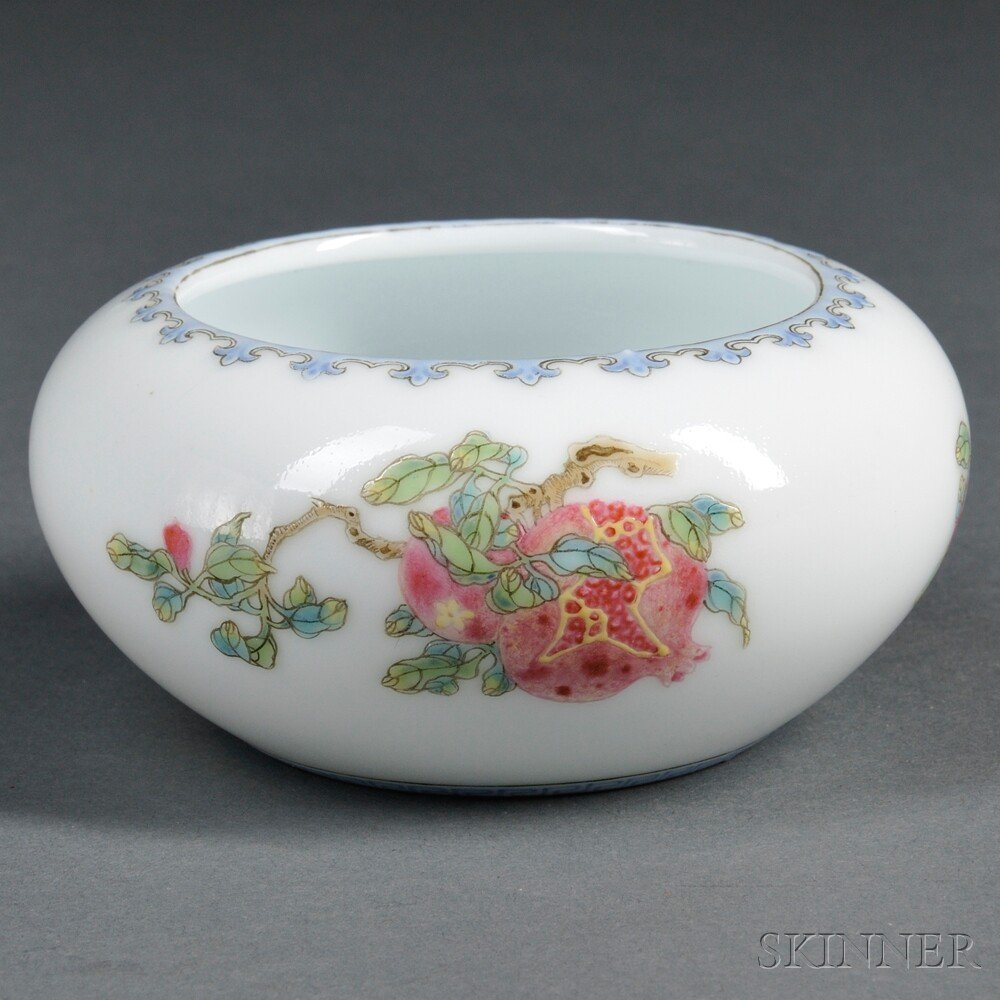 13: Famille Rose Water Coupe, China, 20th century, comp