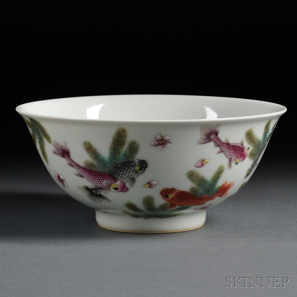 14: Porcelain Bowl, China, 20th century, the underside
