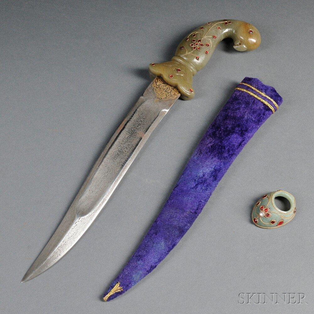 562A: Mughal Dagger, India, 20th century, the curved ta