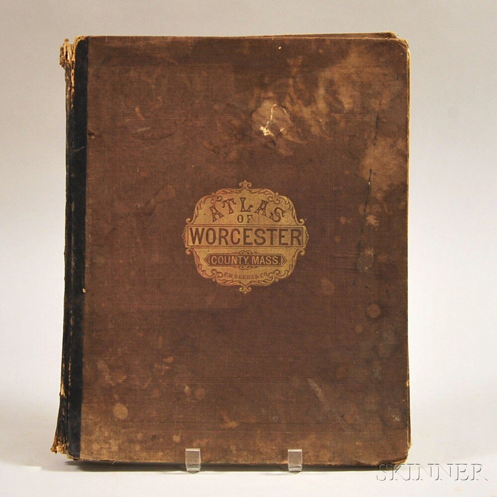 Atlas of Worcester County Massachusetts from Actual Sur