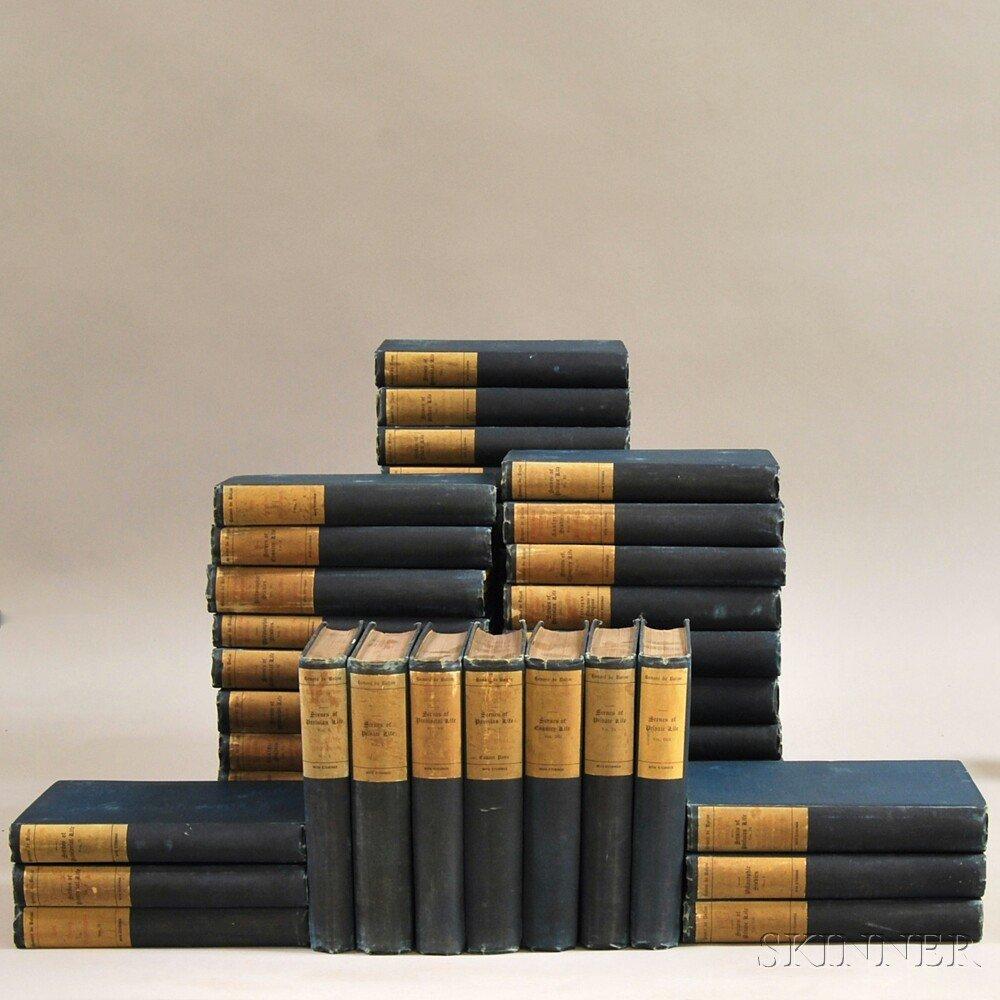 Balzac, Honoré de (1799-1850) The Novels. Philadelphia: