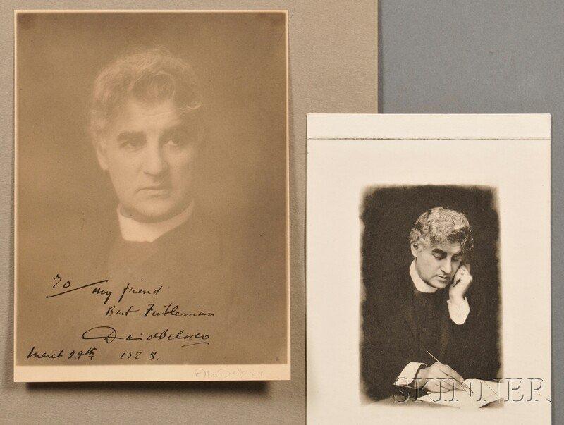 Belasco, David (1853-1931) Two copies: A Souvenir of Sh