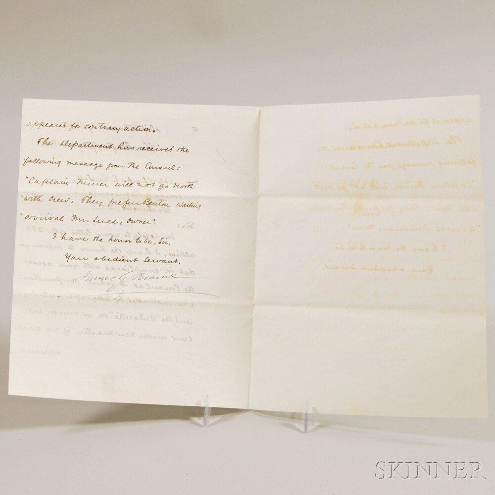 Blaine, James G. (1830-1893) Secretarial Letter Signed,