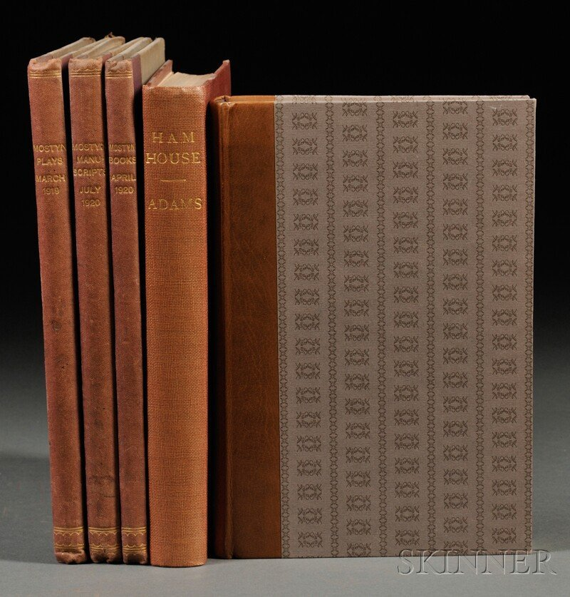 Book Catalogs, Eleven Volumes: Lord Mostyn's Plays, Ill