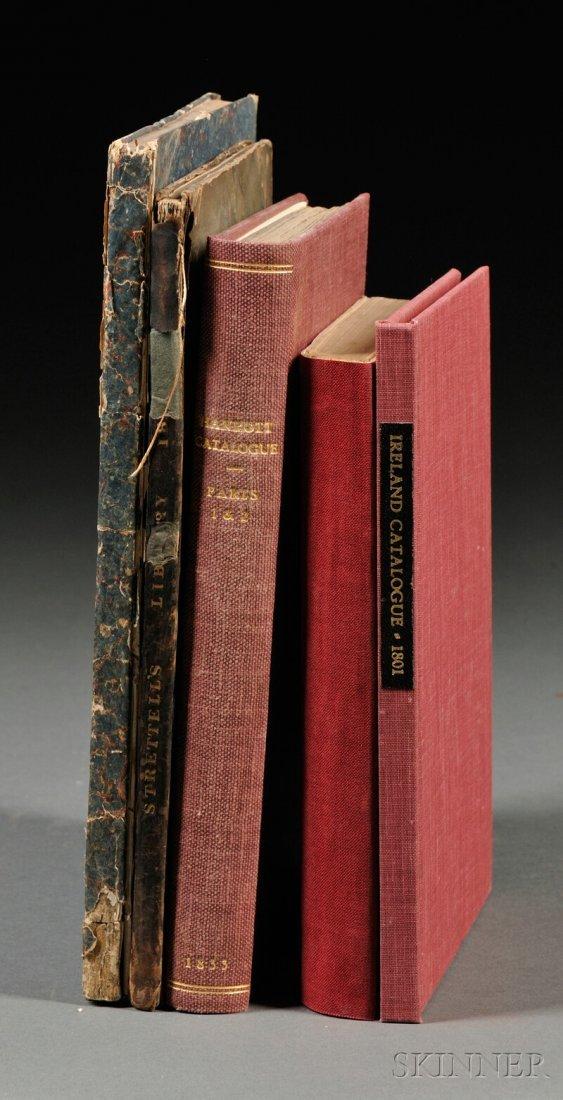 Book Catalogs, Five Volumes: London: 1801-1833. Bibliot