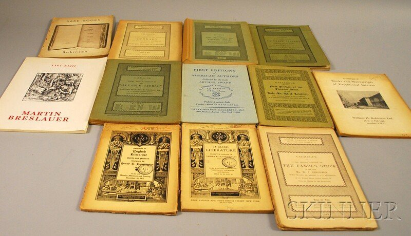 Book Catalogs, Thirteen in Wrappers: miscellaneous 20th