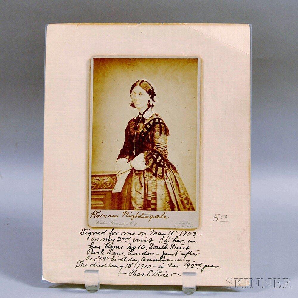 Nightingale, Florence (1820-1910) Carte de Visite, Sign