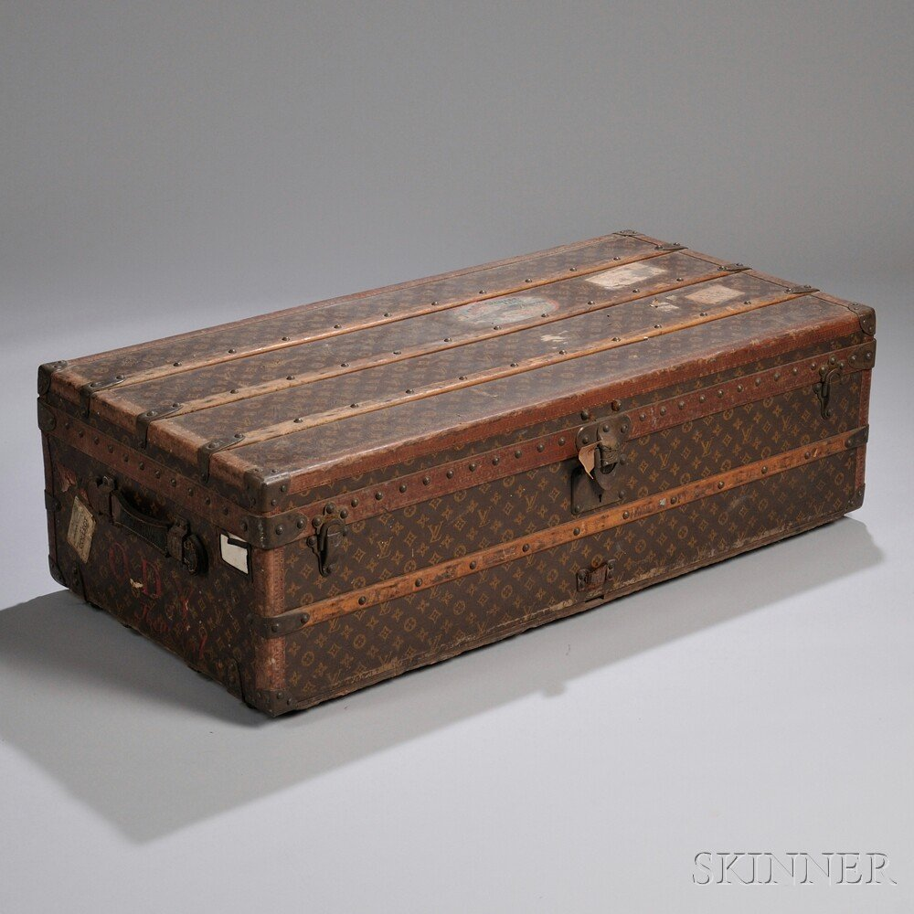 Louis Vuitton Wood Strap-bound and Brass-mounted, Monog