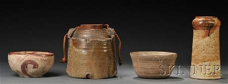 Four Pieces of American Studio Art Pottery, a William W