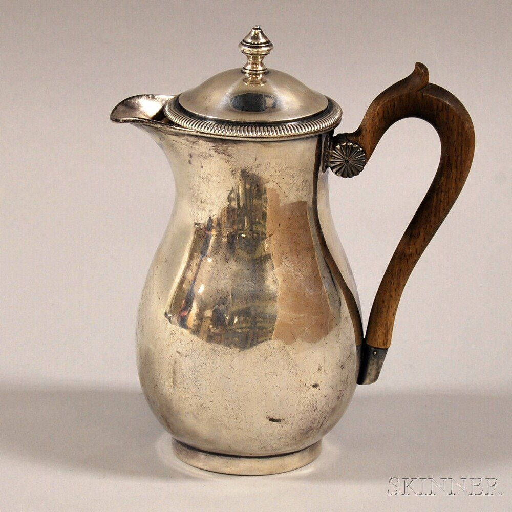 French .950 Silver Teapot, stamped in several places wi