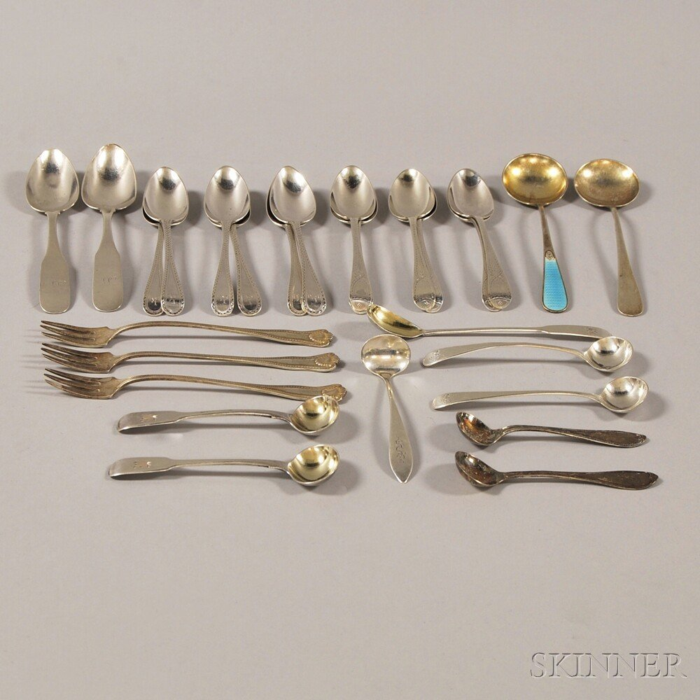 Group of Assorted Small Mostly Sterling and Coin Silver