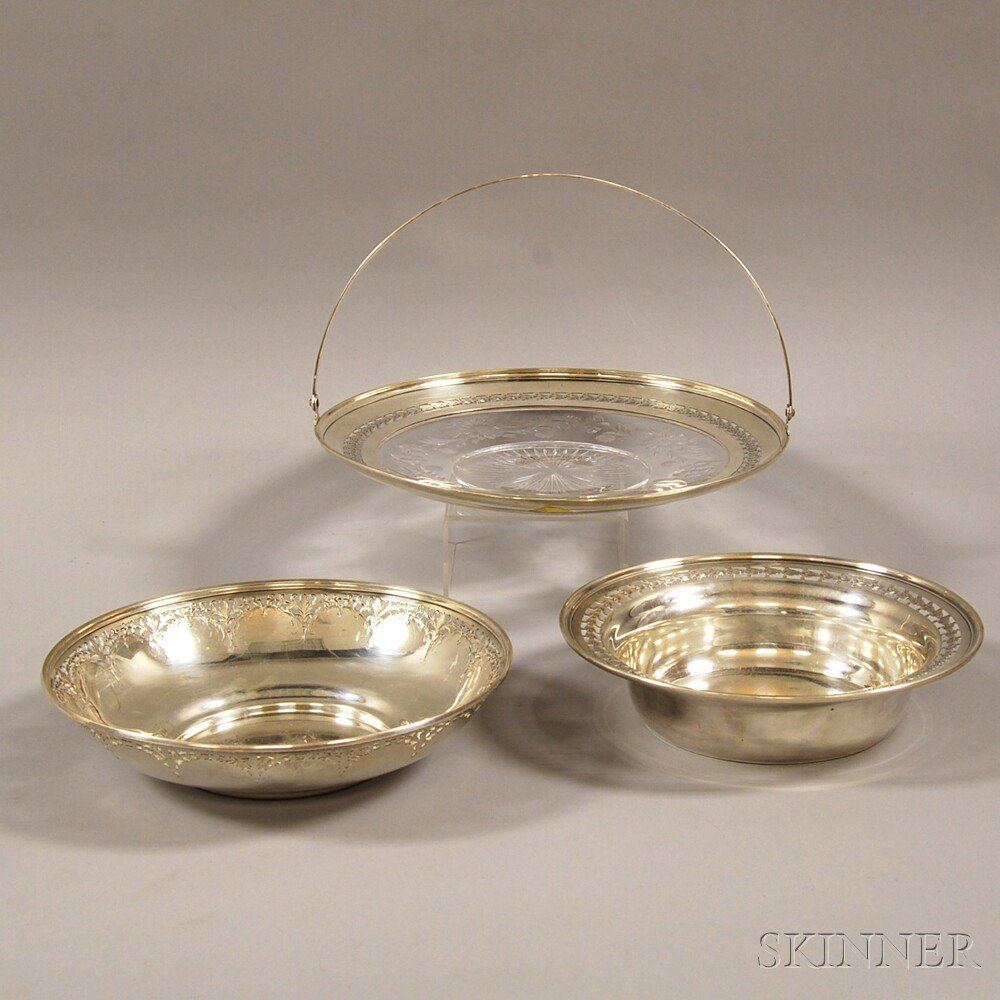 Three American Sterling Silver Items, mid-20th century,