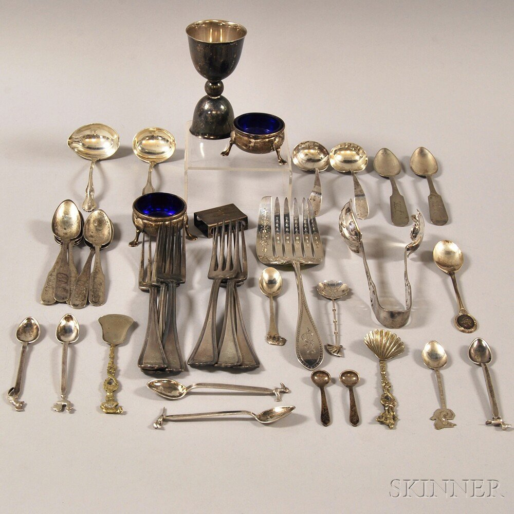 Group of Assorted Mostly Sterling and Coin Silver Table