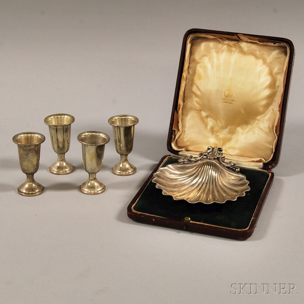 Small Group of Boxed Sterling Silver Tableware, an Elki