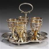 Victorian Sterling Silver Egg Cup Holder, London, marks
