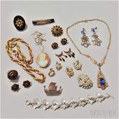 Group of Mostly Victorian Costume and Gold-filled Jewel