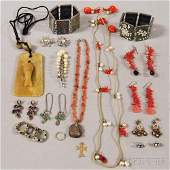 Small Group of Mostly Asian and Hardstone Jewelry, incl