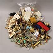 Large Group of Assorted Costume Jewelry, including wood