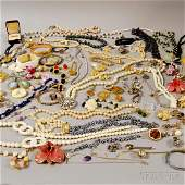 Group of Assorted Mostly Costume Jewelry, including a 1
