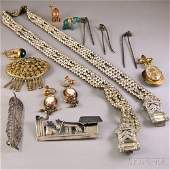 Small Group of Assorted Mostly Antique Jewelry, includi