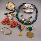 Small Group of Mostly Signed Estate Costume Jewelry and