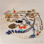 Small Group of Victorian and Beaded Jewelry, including