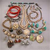 Small Group of Assorted Costume Jewelry including a go