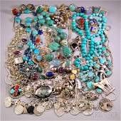 Group of Mostly Sterling Silver and Southwestern Jewelr