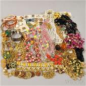 Group of Costume Jewelry including goldtone and gold