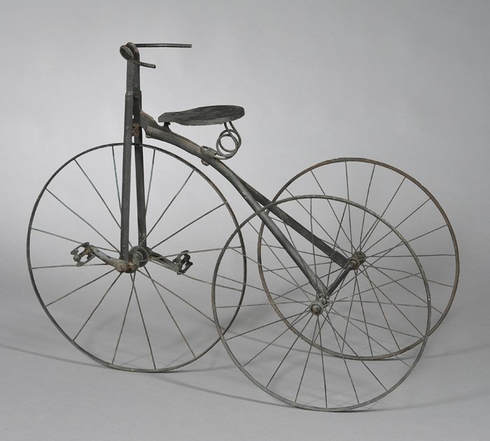 Iron and Wood Tricycle, probably America, late 19th cen