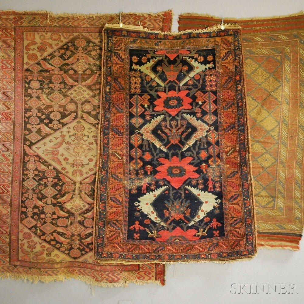 Three Oriental Rugs, 19th/20th century, two Hamadan, 6