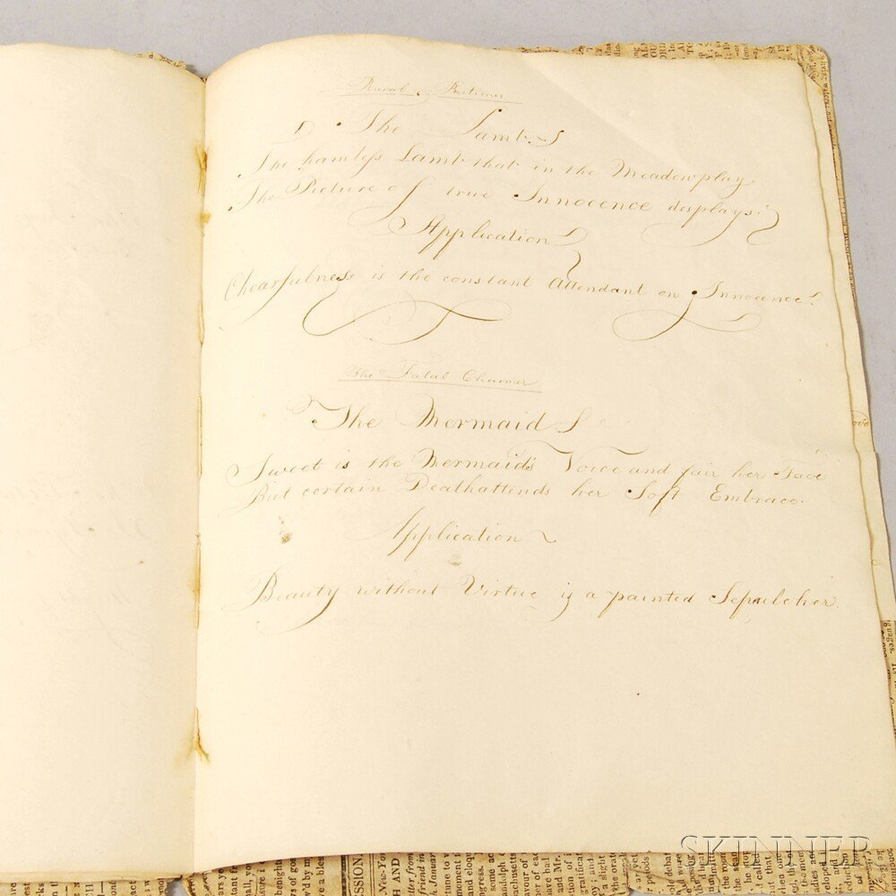 1824 Emily Eastman Loudon Eleven-page Pen and Ink Verse
