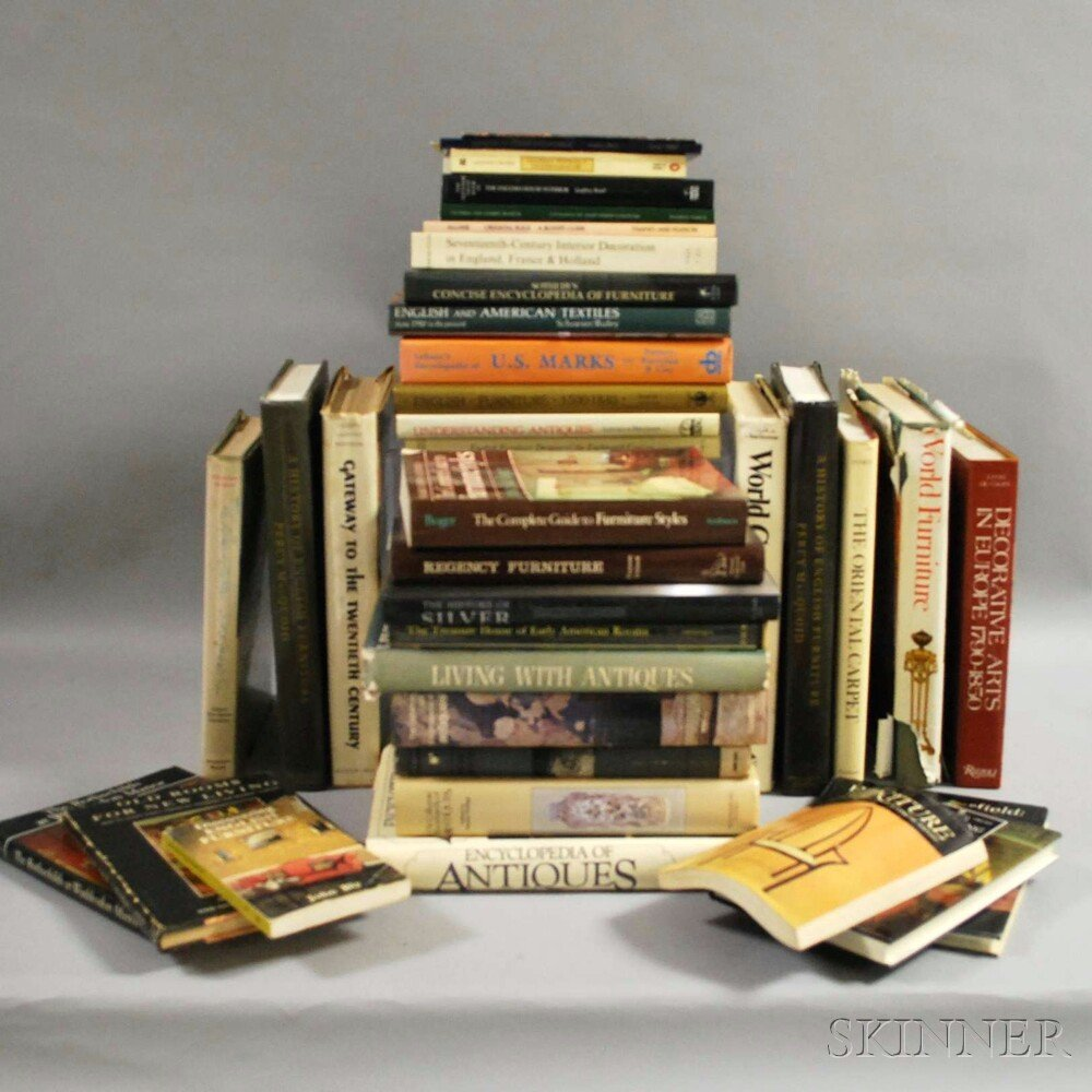Thirty-four Antiques Reference Books.