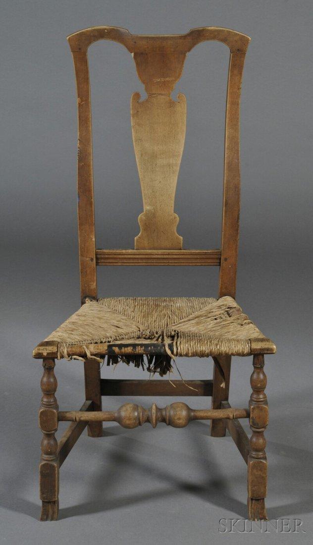 Maple Vase-back Side Chair, New England, last half 18th