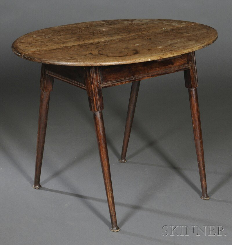 Queen Anne Maple Tea Table, New England, late 18th cent