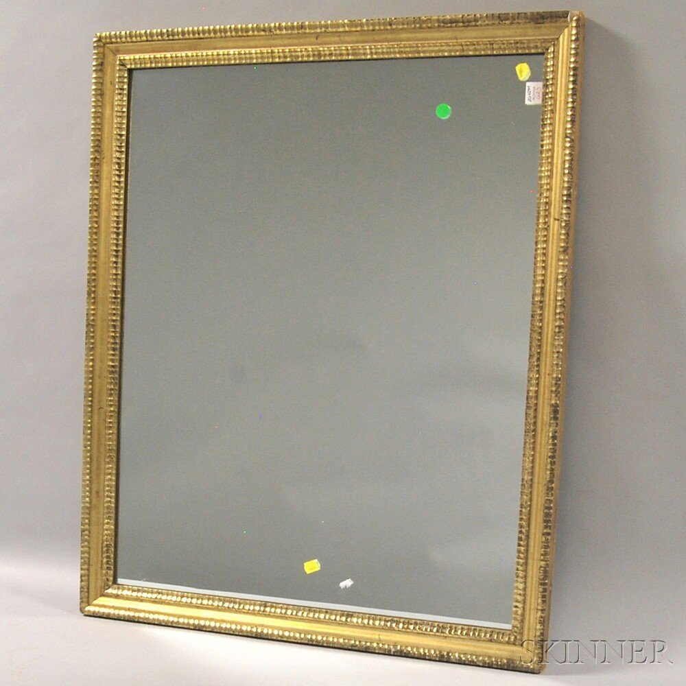 Classical Carved Giltwood Tabernacle Mirror, lg. 38 1/4