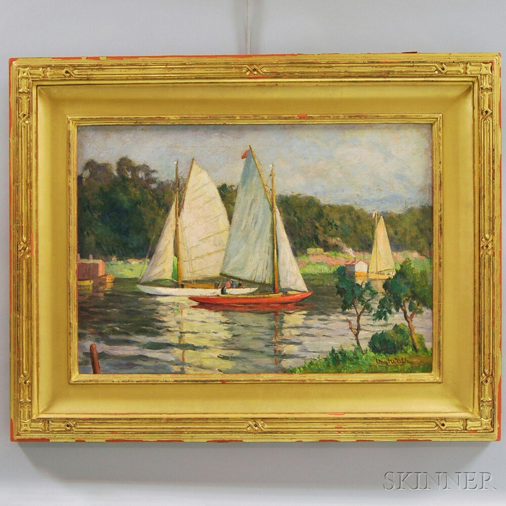 "American School, 20th Century Sailboats. Signed ""Vogt W"