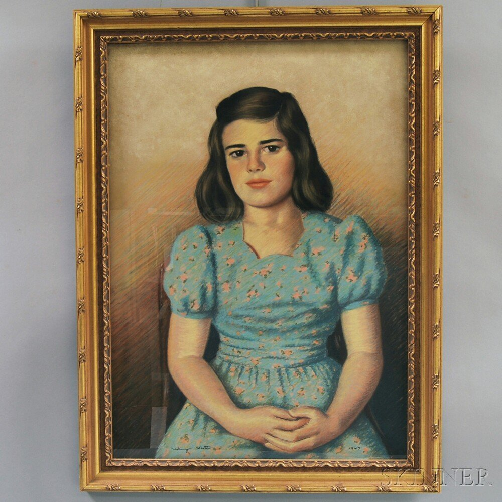 American School, 20th Century Portrait of a Girl, 1947.