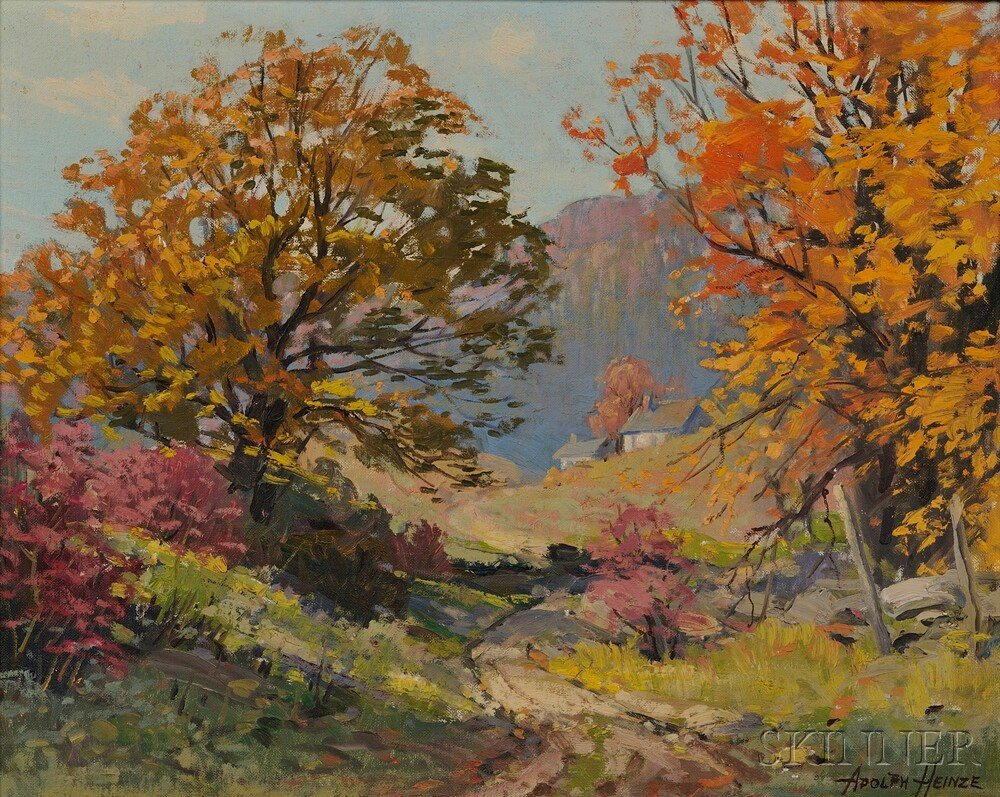 Adolph Heinze (American, 1887-1958) Autumn Hillside. Si