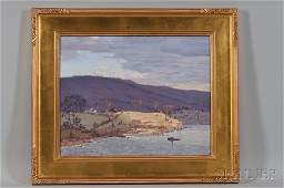 James Emery Greer (American, b. 1948) Landscape by a La