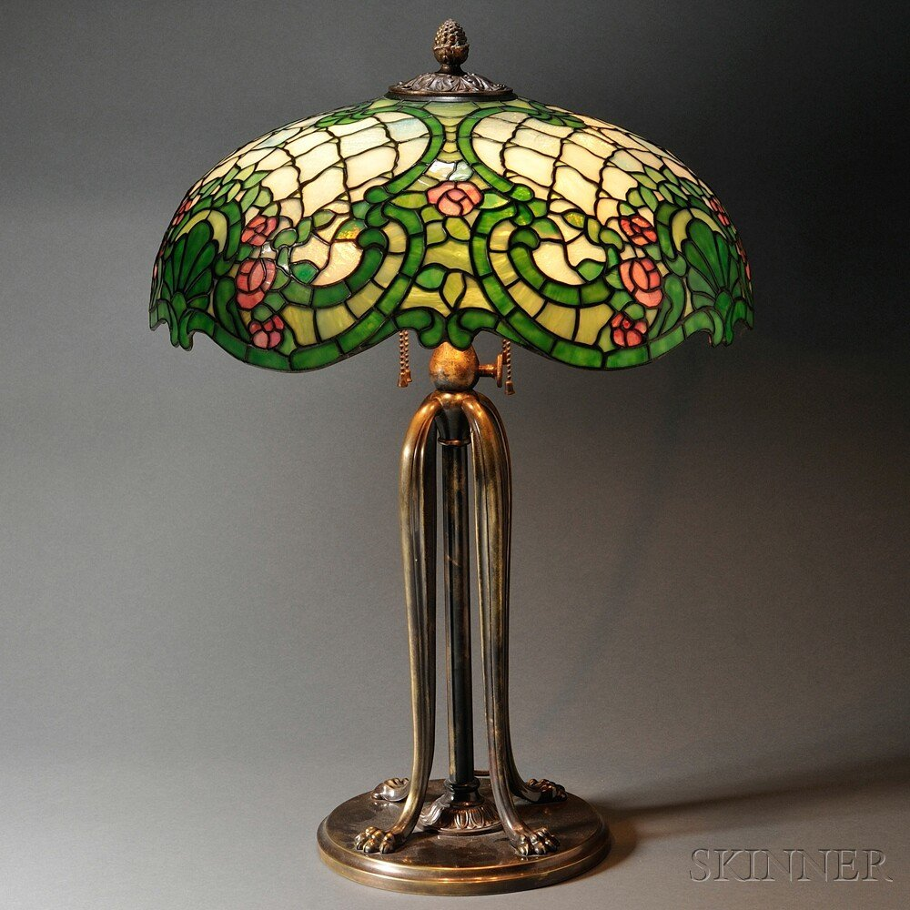 Mosaic Glass Table Lamp, later half 20th century, the s