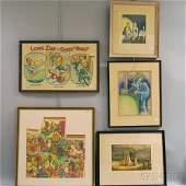 Group of Assorted Framed and Unframed Works including